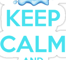 'Keep Calm And Stroke His Nose' Shark Design Sticker