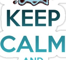 'Keep Calm And Stroke His Nose' Shark Design -Edit- Sticker