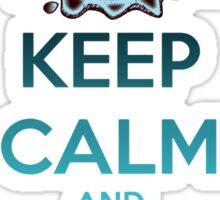 'Keep Calm And Stroke His Nose' Shark Design -Edit- Sticker