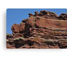 Erosion of Sandstone Red Rocks Canvas Print