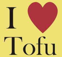 i love tofu vegan veggies lifestyle vegetarian Kids Tee