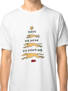 Fun Cool Greyhound Dog and Biscuits Christmas Tree Classic T-Shirt