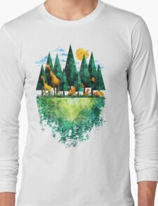 Geo Forest Long Sleeve T-Shirt