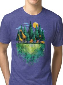 Geo Forest Tri-blend T-Shirt