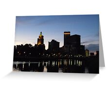 Providence Skyline at Night Greeting Card