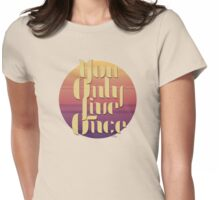 YOLO - Sunset Womens Fitted T-Shirt