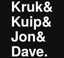 Kruk& Kuip& Jon& Dave. One Piece - Short Sleeve