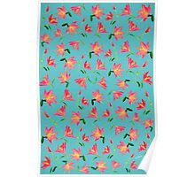 Pink Flowers * Pattern Poster