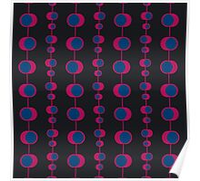 Abstract retro pattern Poster