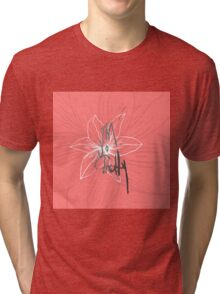 """""""I'm so Pretty"""" Typography and Coral Pink Flower Tri-blend T-Shirt"""