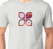 Abstract  geometric triangle texture pattern design in diabolic future red Unisex T-Shirt