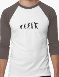 Evolution of Zombies (Zombie Walking Dead) Men's Baseball ¾ T-Shirt