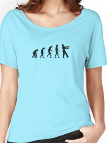 Evolution of Zombies (Zombie Walking Dead) Women's Relaxed Fit T-Shirt