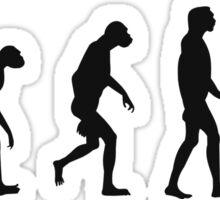 Evolution of Zombies (Zombie Walking Dead) Sticker
