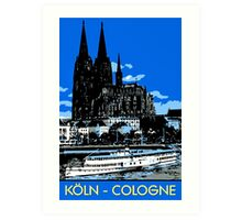Koeln Cologne retro vintage style travel ad  Art Print