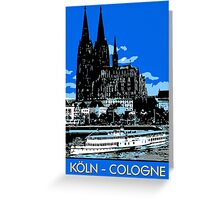 Koeln Cologne retro vintage style travel ad  Greeting Card