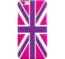 Pink and Purple Union Jack British Flag iPhone Case/Skin