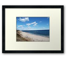 Block Island beach Framed Print