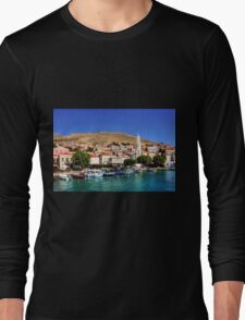 Fishing Boats at the Harbour Long Sleeve T-Shirt