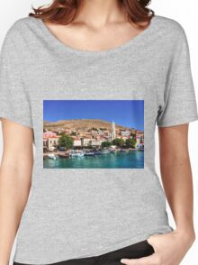 Fishing Boats at the Harbour Women's Relaxed Fit T-Shirt