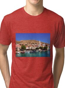Fishing Boats at the Harbour Tri-blend T-Shirt