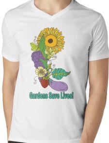 Gardens Save Lives Mens V-Neck T-Shirt