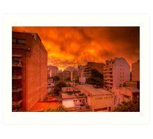 Burning Sky, Buenos Aires, Argentina Art Print
