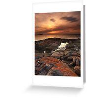 """A Lichen Dusk"" ∞ Coles Bay, Tasmania - Australia Greeting Card"