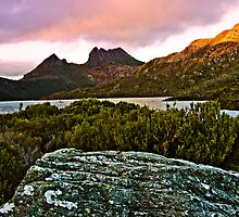 Cradle Mountain as Dawn Breaks by Julia Harwood