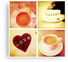 Cambridge Collection: Love Coffee Canvas Print