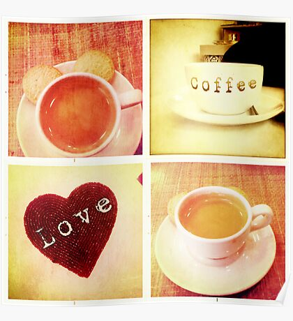 Cambridge Collection: Love Coffee Poster