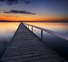 Long Jetty Sunset by Dianne English