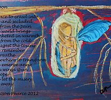 Cocoon (with text) by Alison Pearce