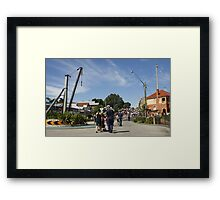 Follow the bagpipes Framed Print