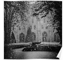The april rain on the Abbey of Royaumont Poster