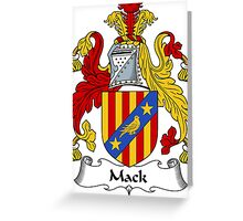 Mack Coat of Arms / Mack Family Crest Greeting Card