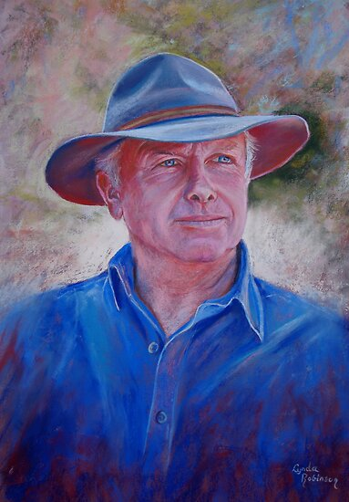 Portrait of Bruce by Lynda Robinson