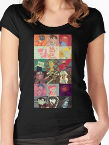 18 Cartoon Protagonists Women's Fitted Scoop T-Shirt