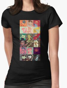 18 Cartoon Protagonists Womens Fitted T-Shirt