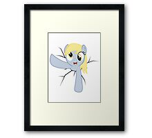 Derpy Hooves stuck in a wall Framed Print