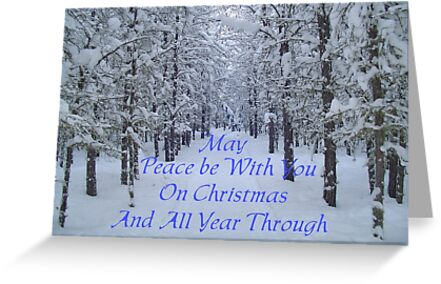 Winter Trail,CHRISTmas Card by MaeBelle