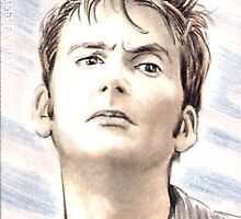 David Tennant miniature by wu-wei
