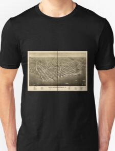 Panoramic Maps City of Sandusky O Unisex T-Shirt