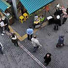 Looking Down on Shoppers (2) by Christian Eccleston