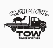 funny, camel tow towing  by John Helman