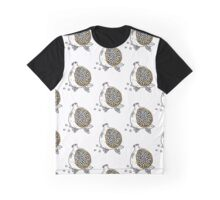 Pomegranate woodblock in GOLD Graphic T-Shirt