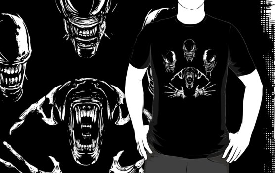 Alien Rhapsody- Aliens Shirt by spacemonkeydr