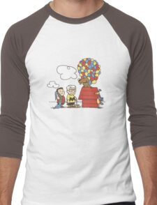 some Peanuts UP there V.2 Men's Baseball ¾ T-Shirt