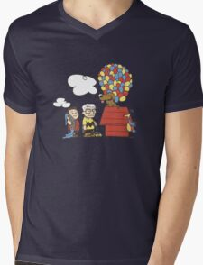 some Peanuts UP there V.2 Mens V-Neck T-Shirt