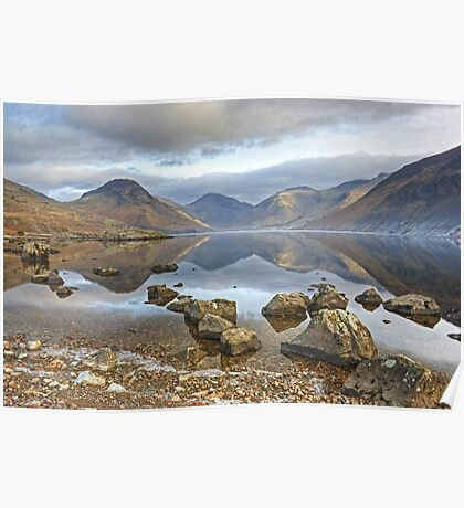 Wastwater..Rocks and Reflections Poster